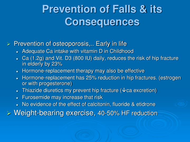 Prevention of Falls & its Consequences