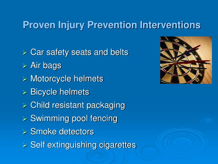 Proven Injury Prevention Interventions