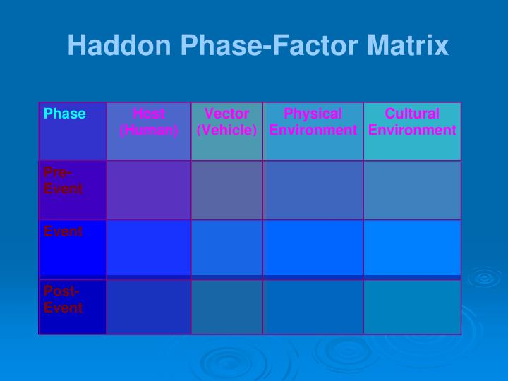 Haddon Phase-Factor Matrix