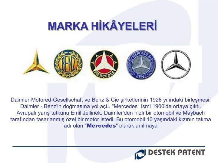 MARKA HİKÂYELERİ