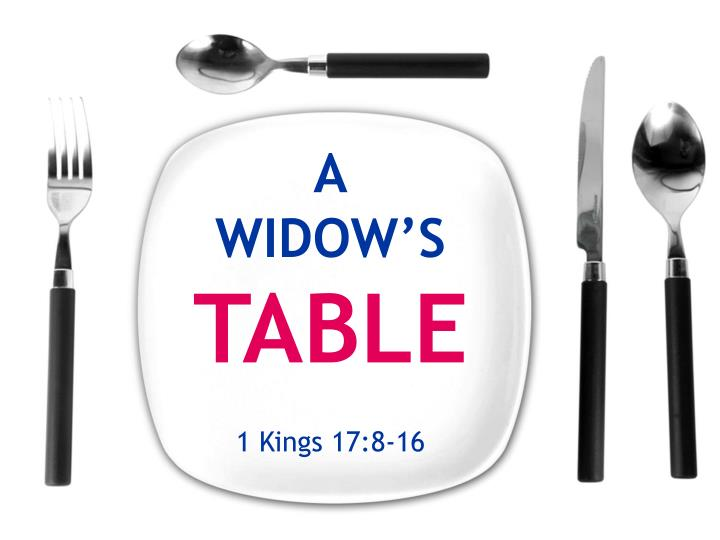 A widow s table