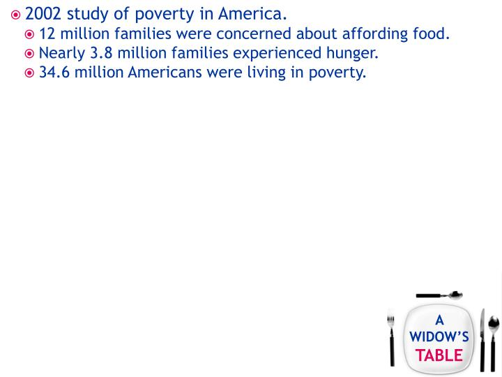 2002 study of poverty in America.