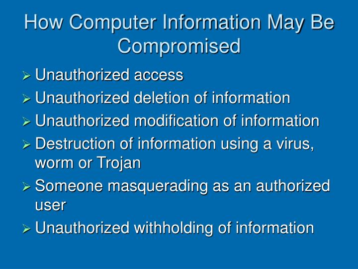 How Computer Information May Be Compromised
