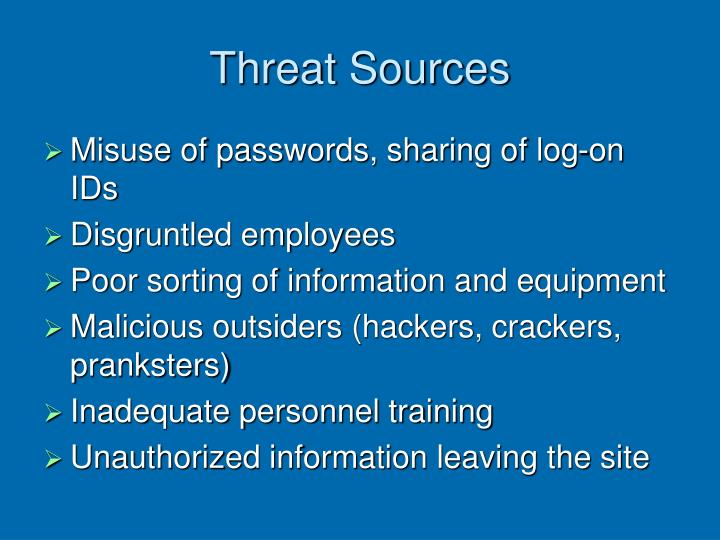 Threat Sources
