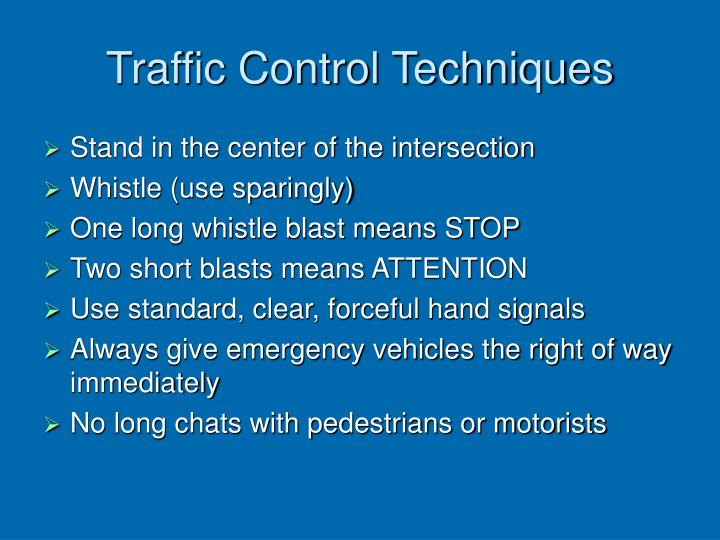 Traffic Control Techniques