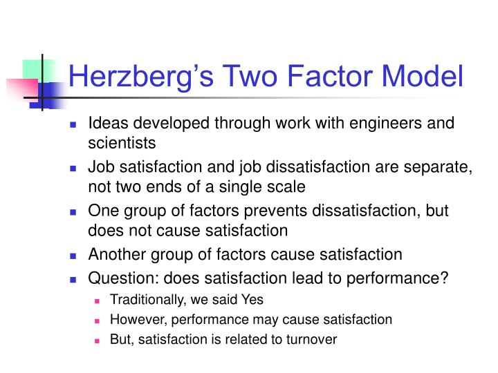 Herzberg's Two Factor Model