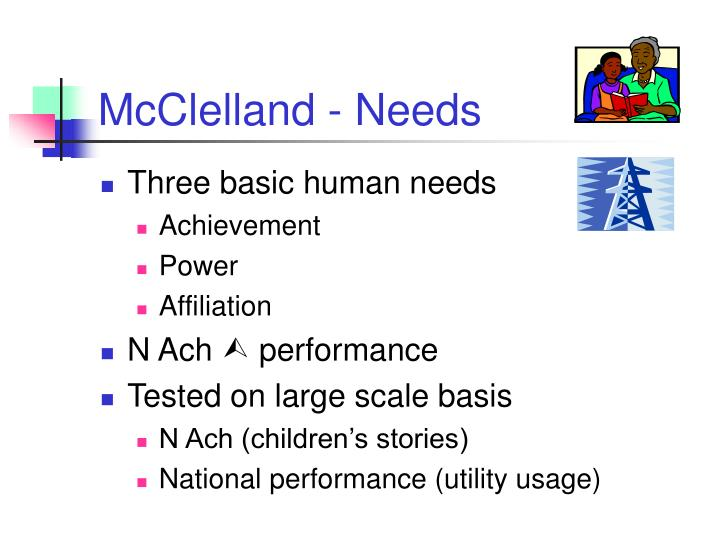 McClelland - Needs