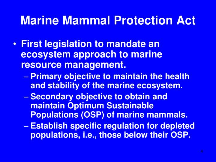 Marine Mammal Protection Act