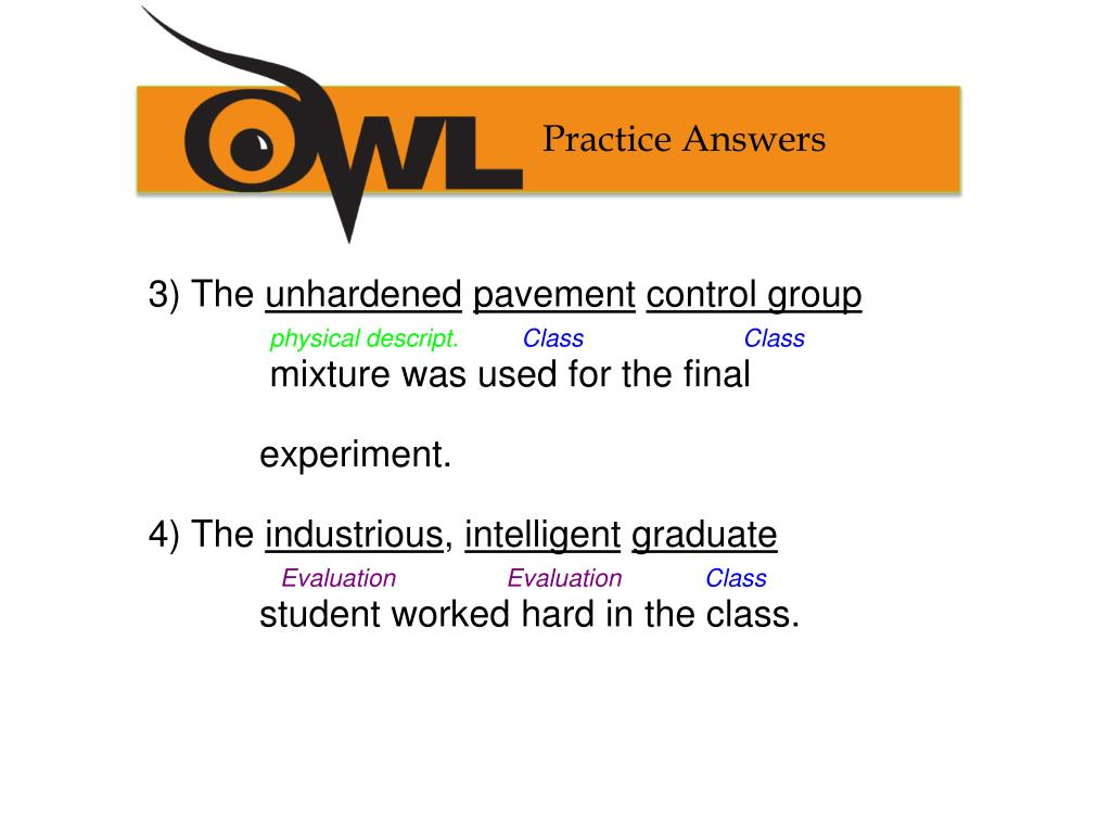 Practice Answers