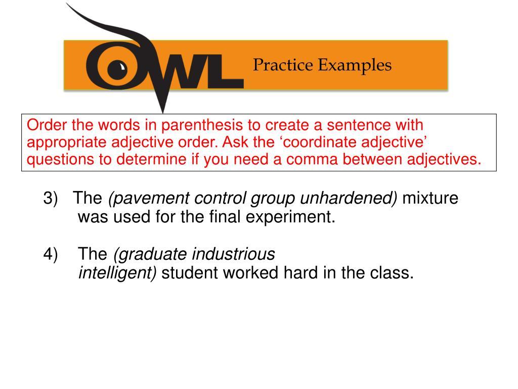 Practice Examples