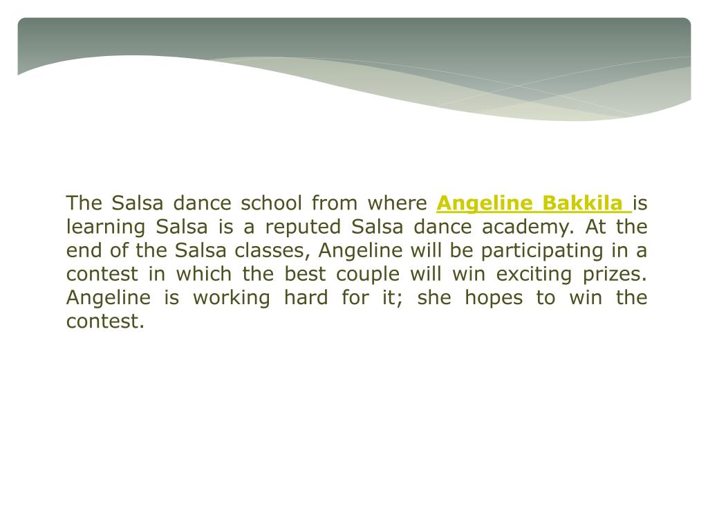 The Salsa dance school from where