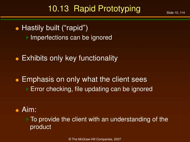 10.13  Rapid Prototyping