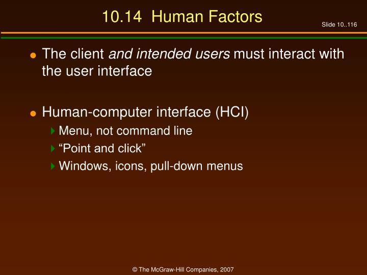 10.14  Human Factors