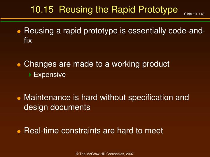 10.15  Reusing the Rapid Prototype