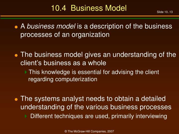 10.4  Business Model