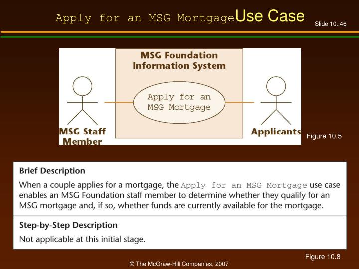 Apply for an MSG Mortgage