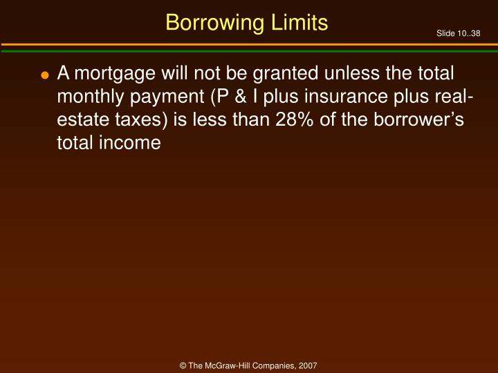 Borrowing Limits