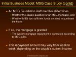 initial business model msg case study contd