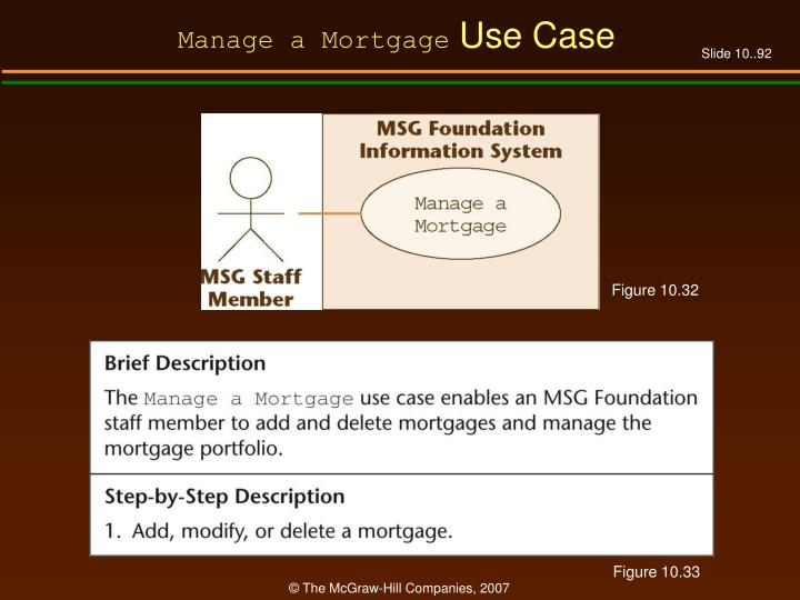 Manage a Mortgage