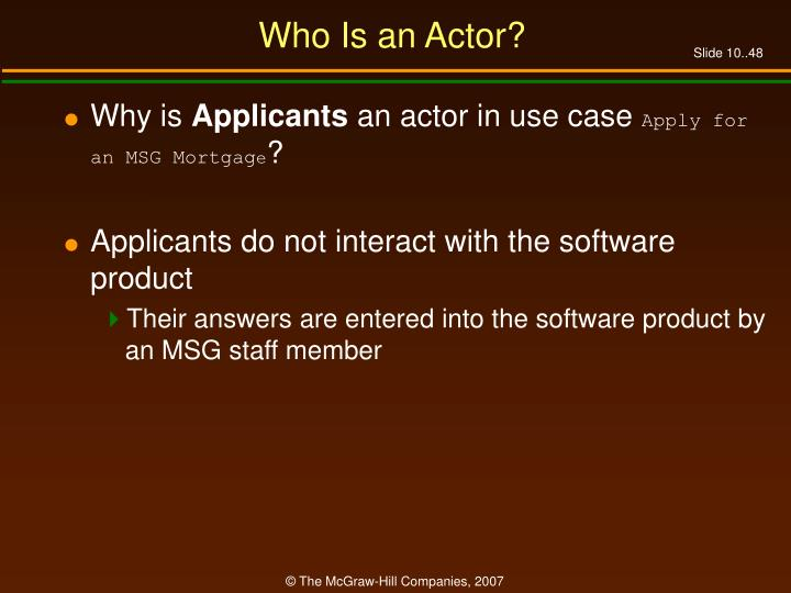 Who Is an Actor?