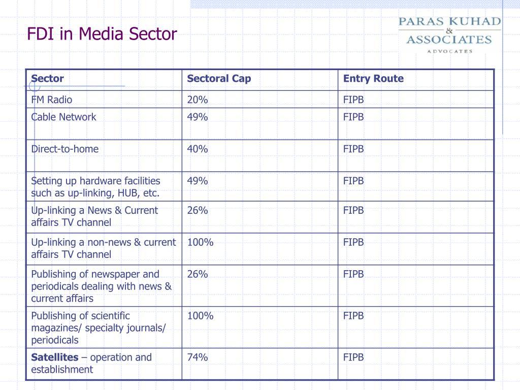 FDI in Media Sector