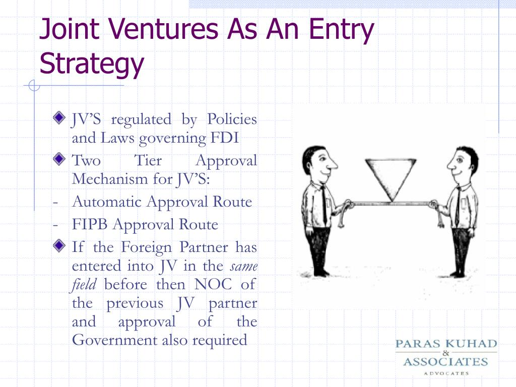 JV'S regulated by Policies and Laws governing FDI