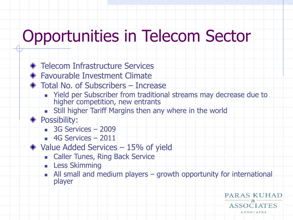 Opportunities in Telecom Sector