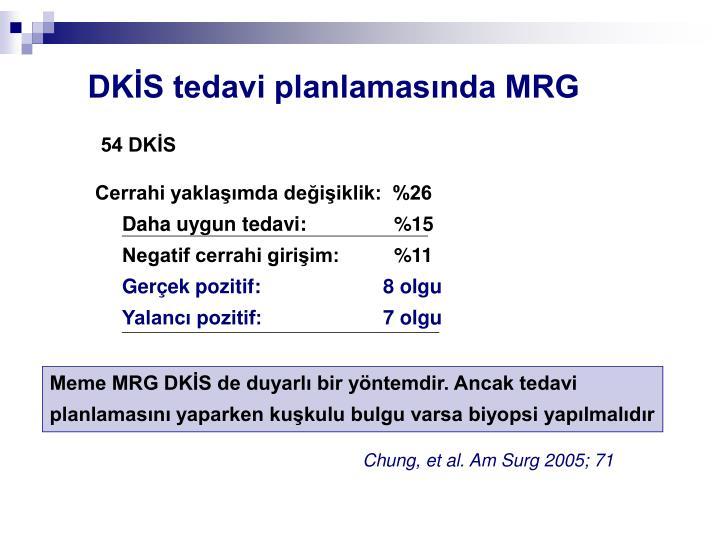 DKİS tedavi planlamasında MRG