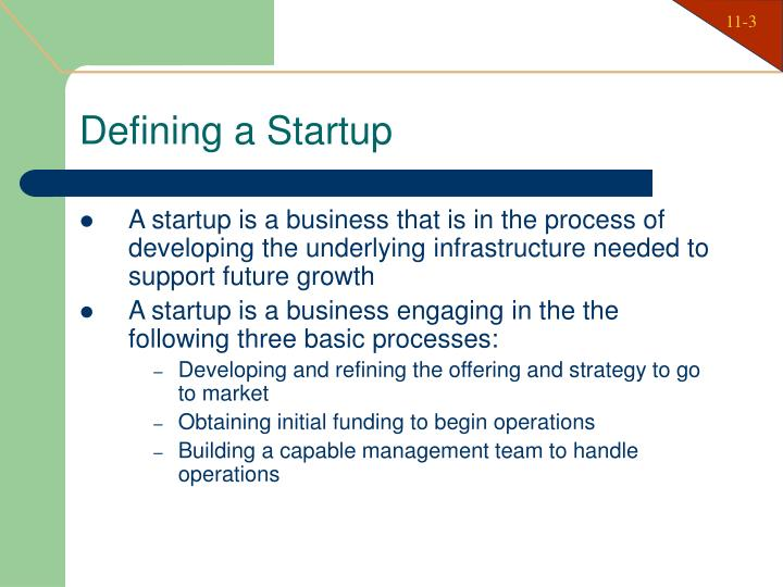Defining a Startup
