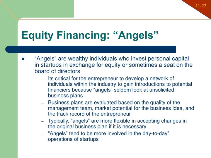 "Equity Financing: ""Angels"""
