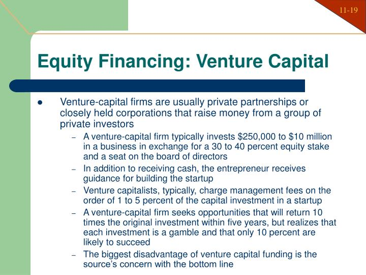 Equity Financing: Venture Capital