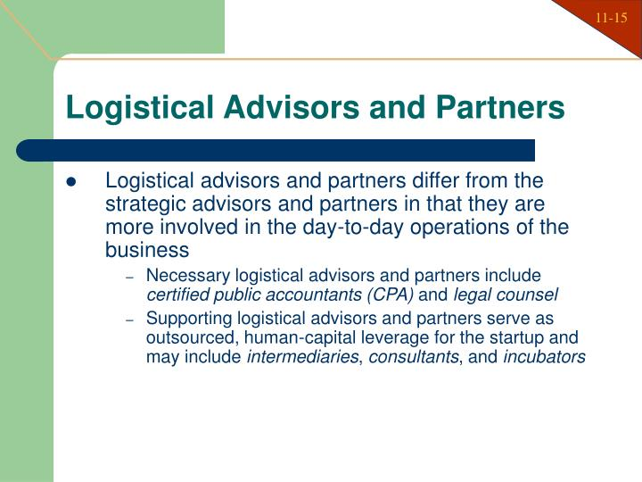 Logistical Advisors and Partners