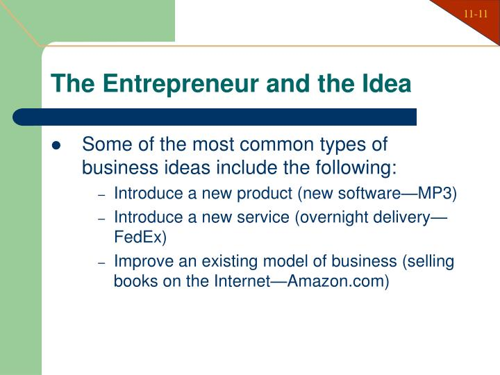 The Entrepreneur and the Idea