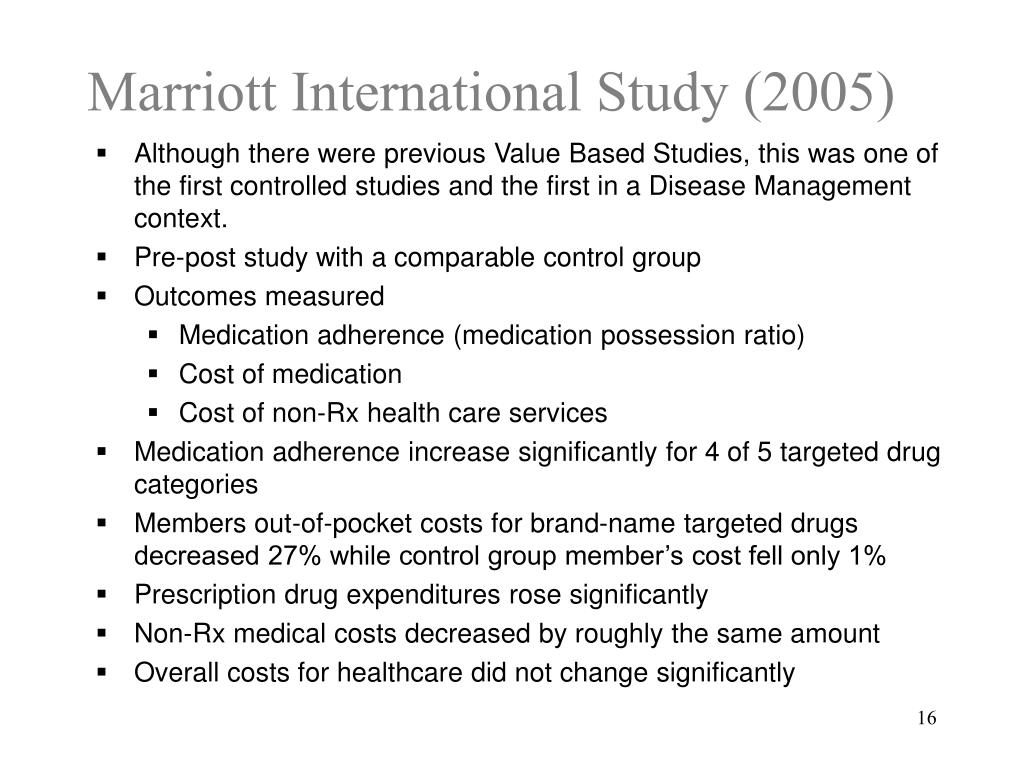 Marriott International Study (2005)