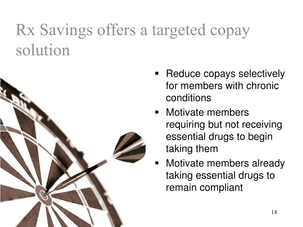 Rx Savings offers a targeted copay solution