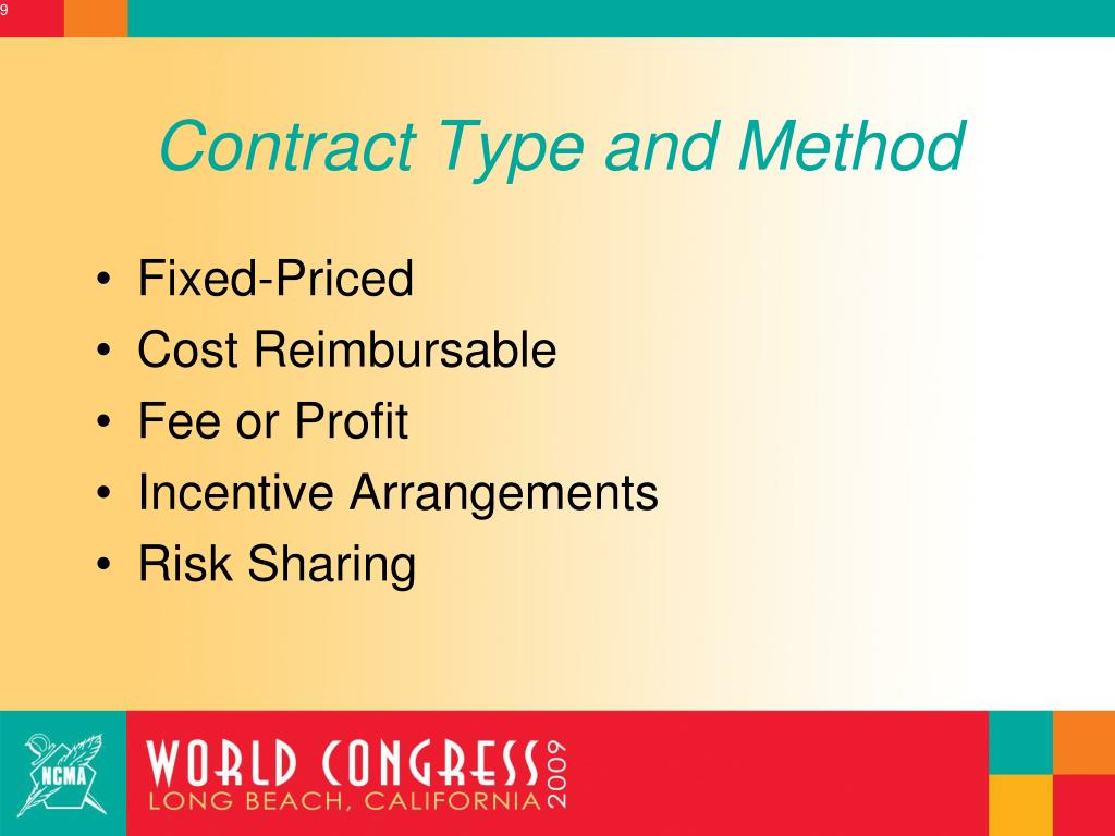 Contract Type and Method