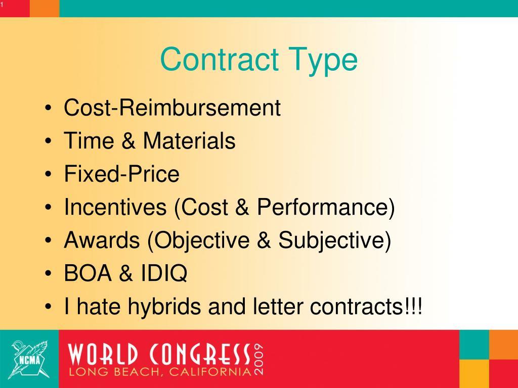 Contract Type
