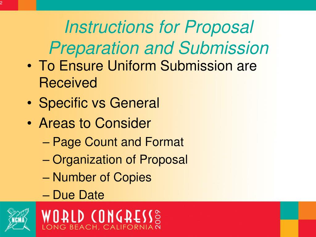 Instructions for Proposal Preparation and Submission