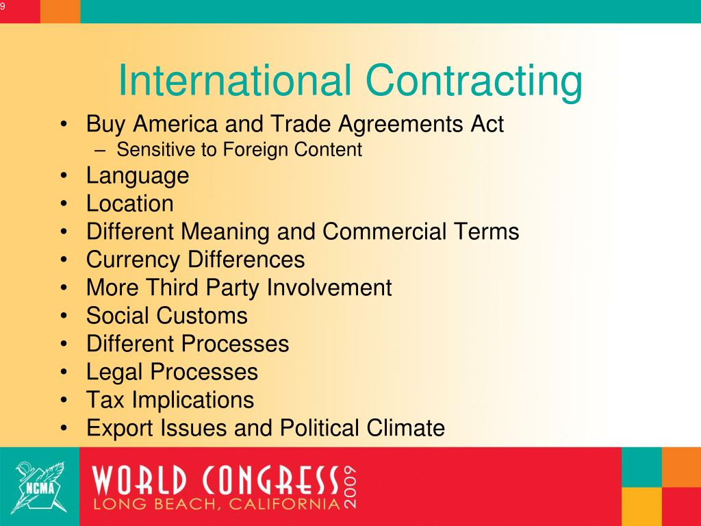International Contracting