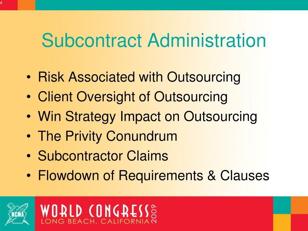 Subcontract Administration