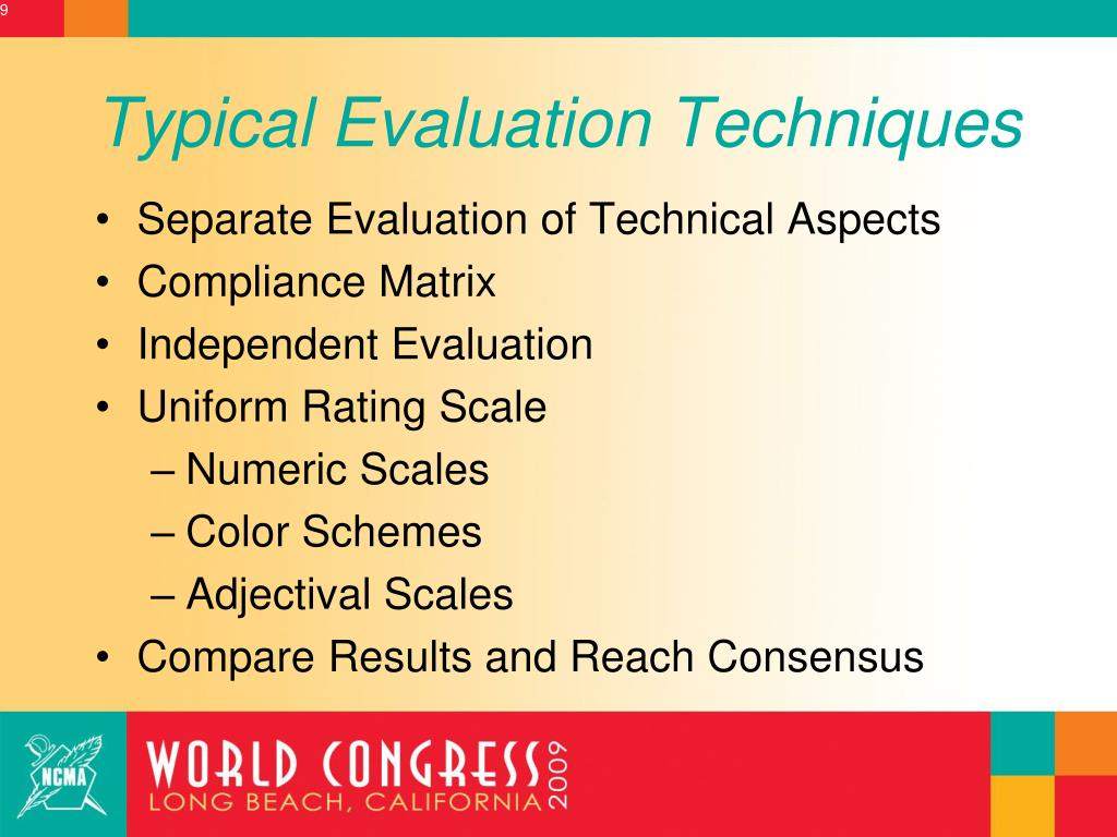 Typical Evaluation Techniques