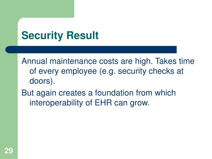 Security Result