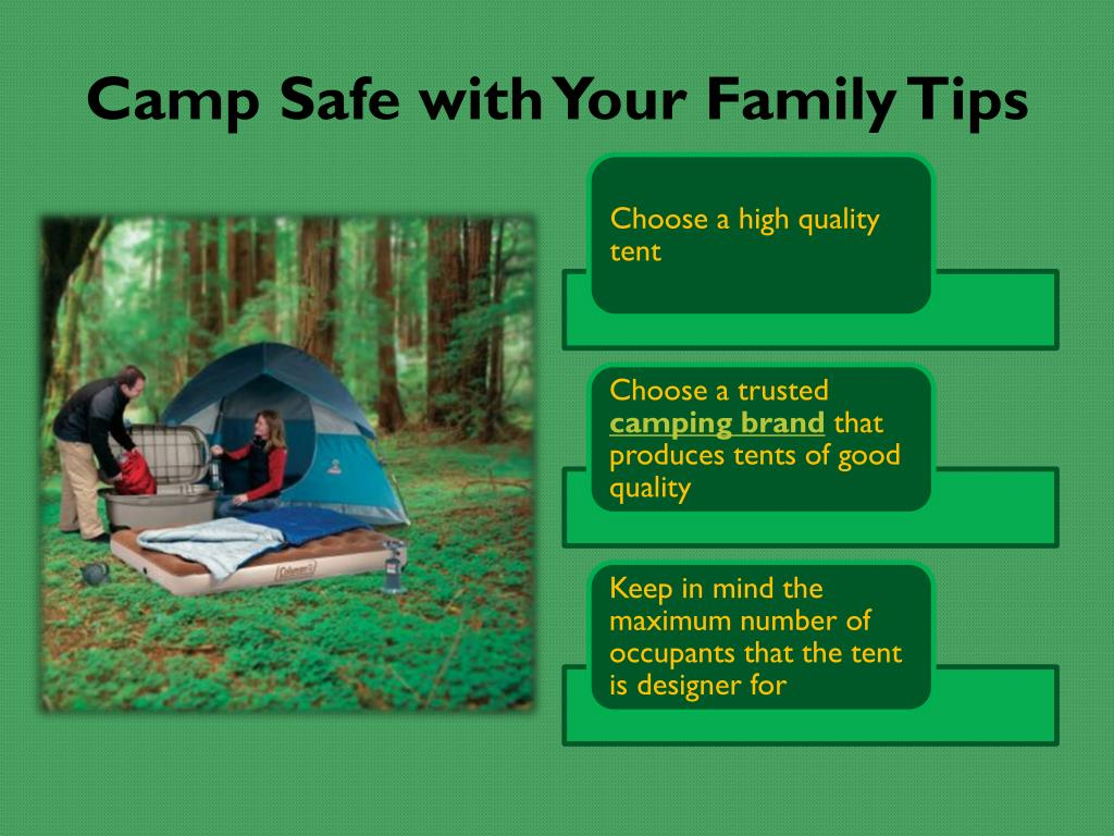 Camp Safe with Your Family Tips