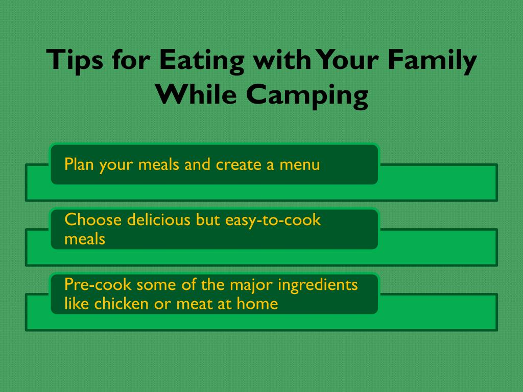 Tips for Eating with Your Family While Camping