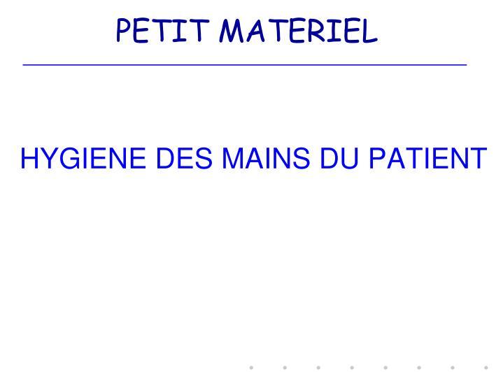 PETIT MATERIEL
