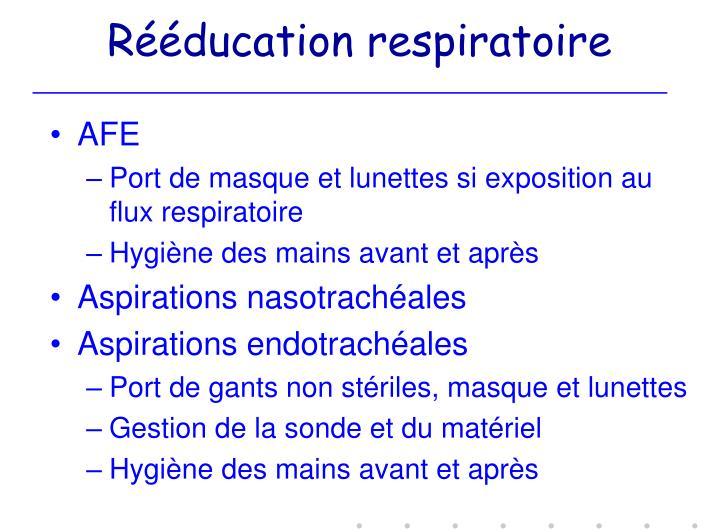 Rééducation respiratoire