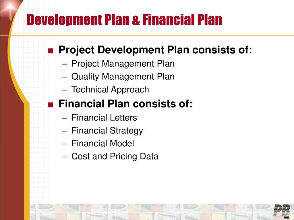 Development Plan & Financial Plan
