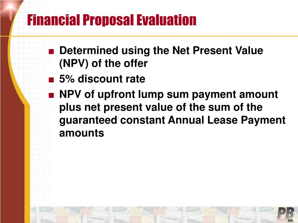 Financial Proposal Evaluation