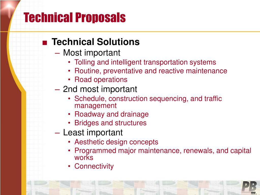 Technical Proposals