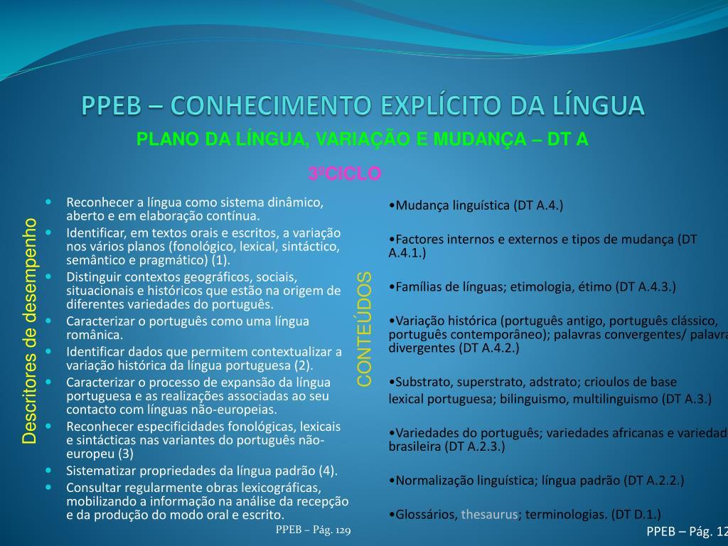 Reconhecer a língua como sistema dinâmico, aberto e em elaboração contínua.